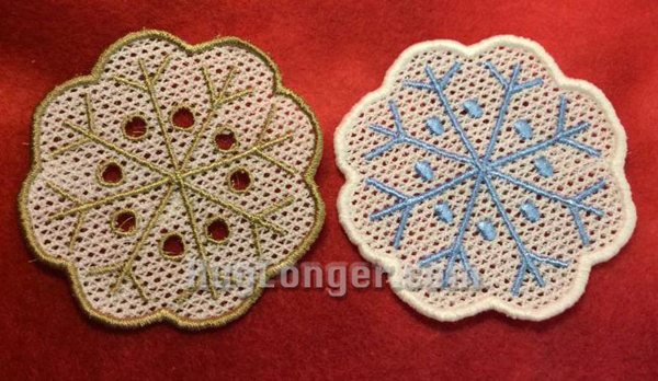 FreeStanding Lace Snowflake Coasters