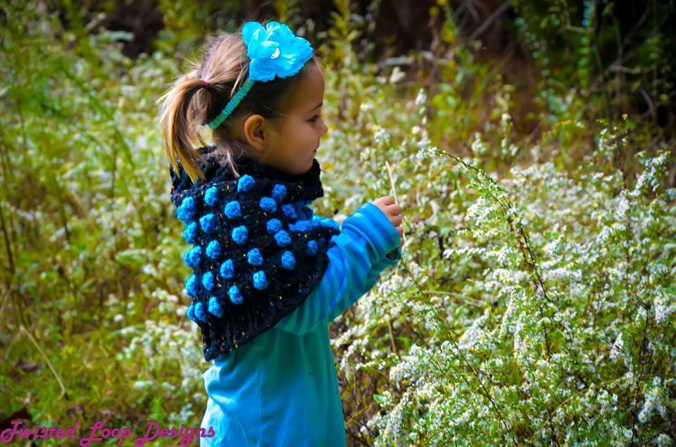 Polka Dot Capelet crochet pattern