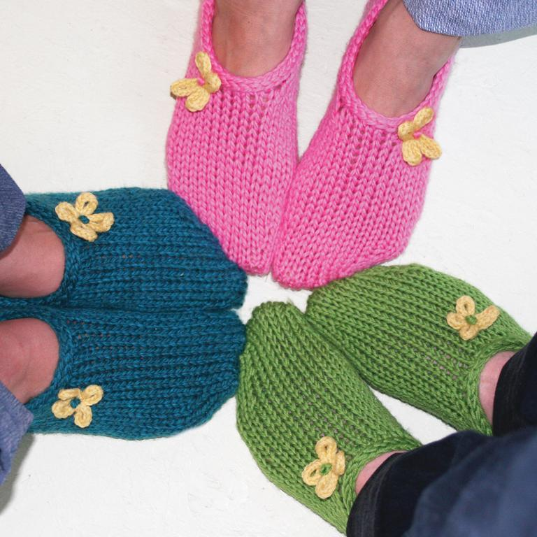 Two Hour Toe Up Slippers