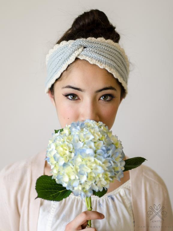 Chambray Headband knitting pattern