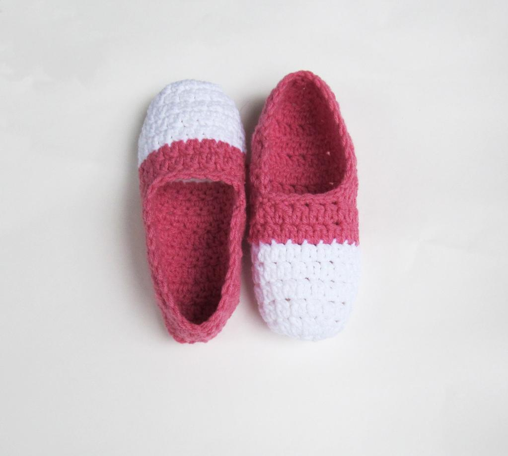 Two Tone Ballet Slippers crochet pattern