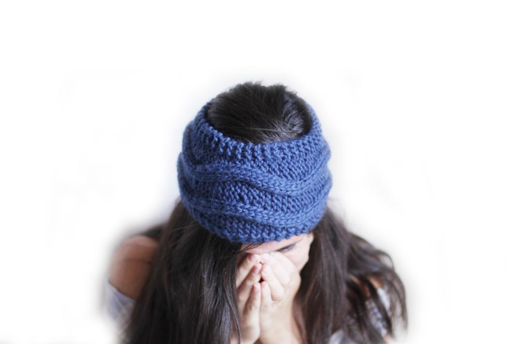 Headband with Waves knitting pattern