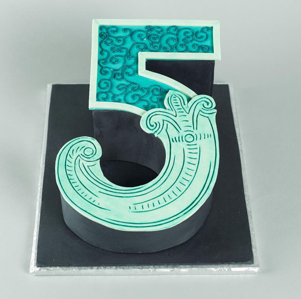 Number 5 cake by Bluprint instructor Mike McCarey