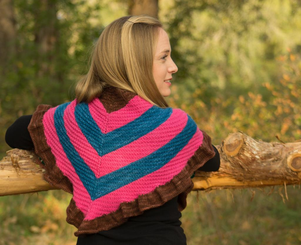 Beautiful Laudine Shawl Knit Pattern