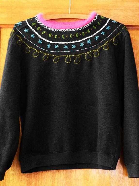 Embroidered Thrifted Sweatshirt