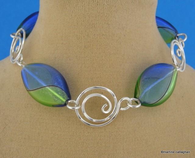 Swirl Wire Links jewelry tutorial