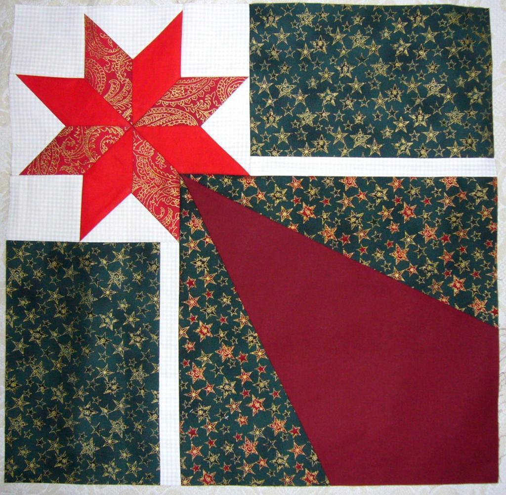 Star of Bethlehem block Christmas quilt