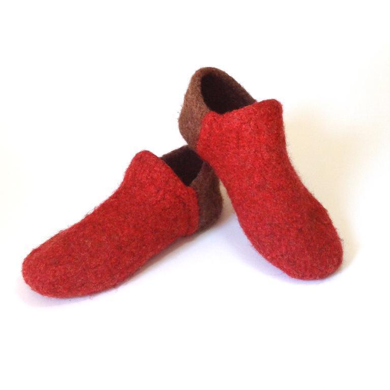 Felted Slipper Socks