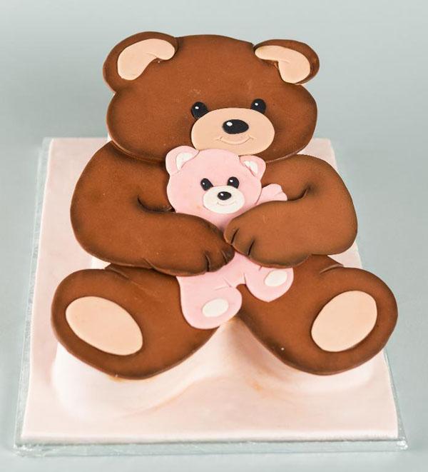 Teddy bear cake by Bluprint instructor Mike McCarey