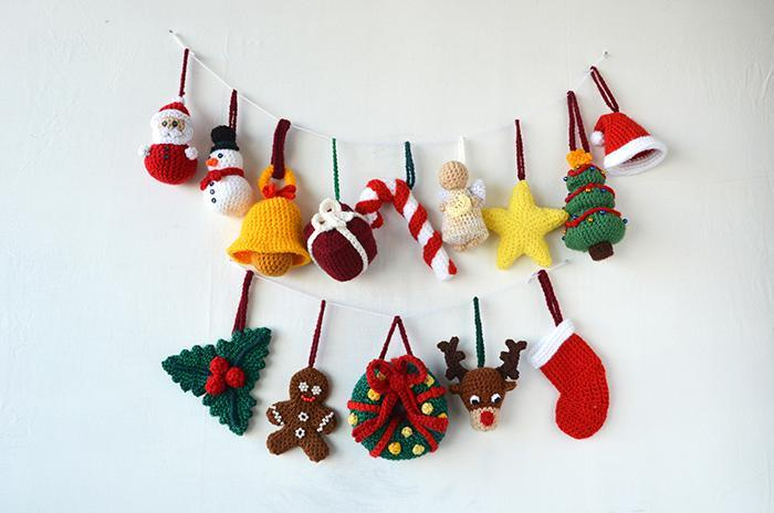 14 Christmas Ornaments crochet pattern