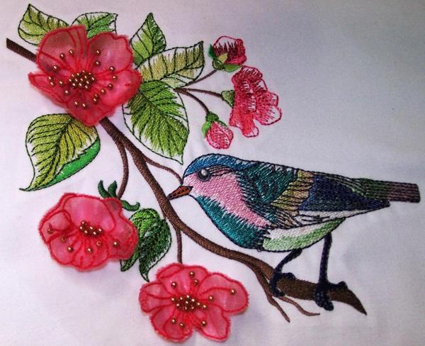 3D machine embroidery on Bluprint