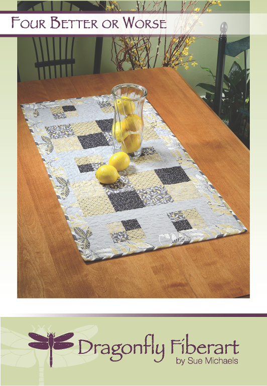 Easy Modern Table runner with squares