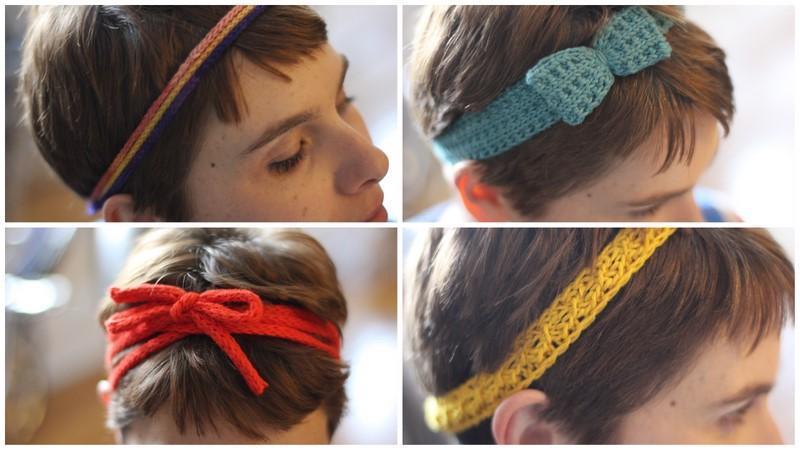 A Quartet of Headbands knitting patterns