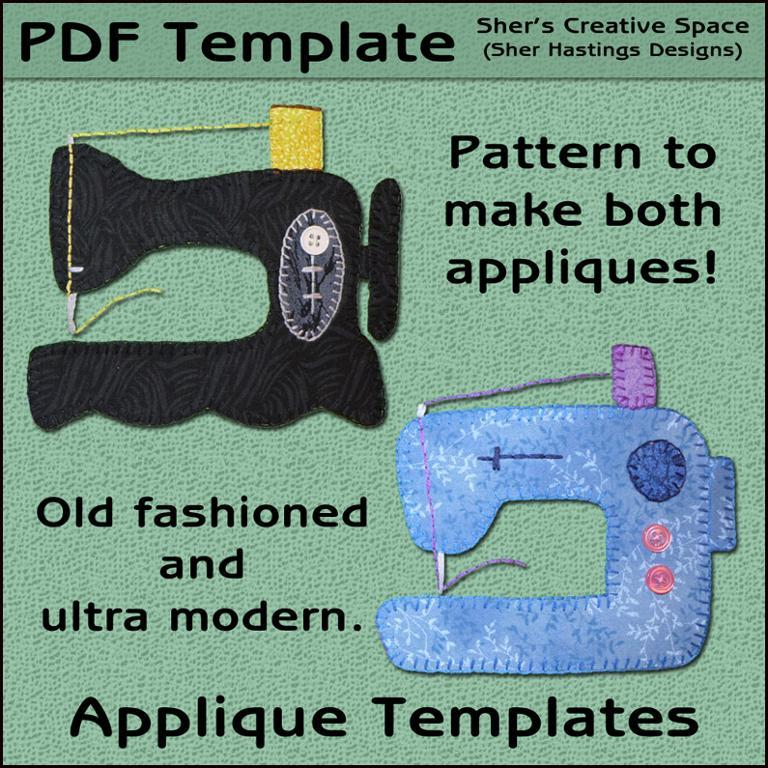 Sewing Machine Applique Templates