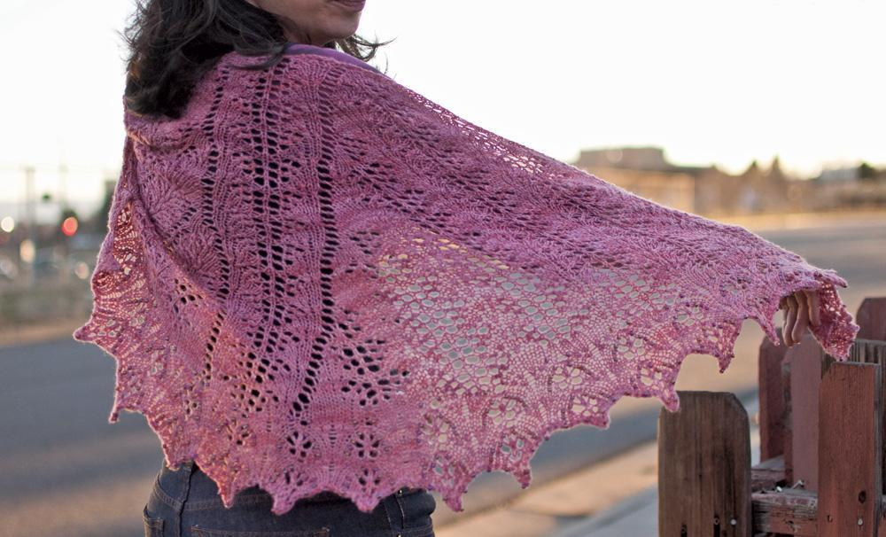 Clarus Shawl with Beads knitting pattern