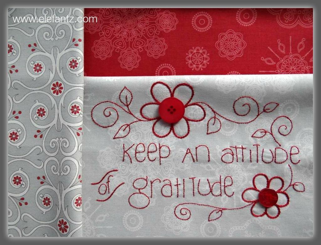 Grattitude is an Attitude by Jenny of Elefantz on Bluprint