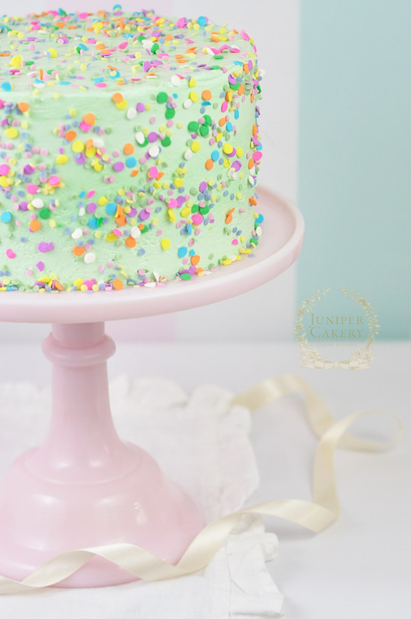 Gluten-free fundetti cake recipe and how to by Juniper Cakery