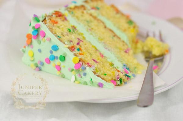 Fun gluten-free funfetti cake recipe by Juniper Cakery