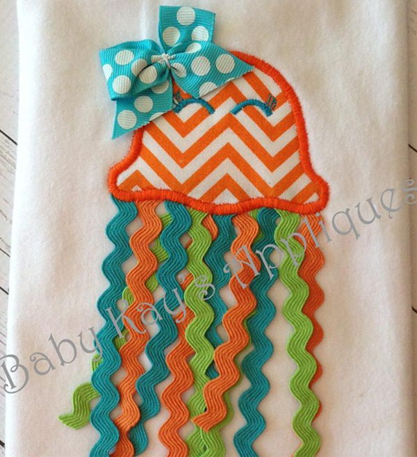 3-D jelly fish applique by Baby Kays on Bluprint