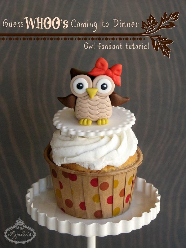 Owl fondant topper tutorial