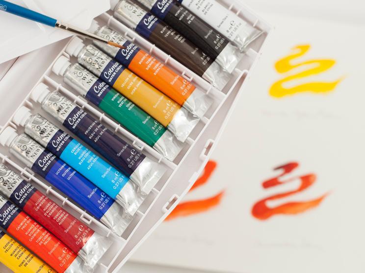 Winsor & Newton Cotman Water Colour Painting Plus Tube Set