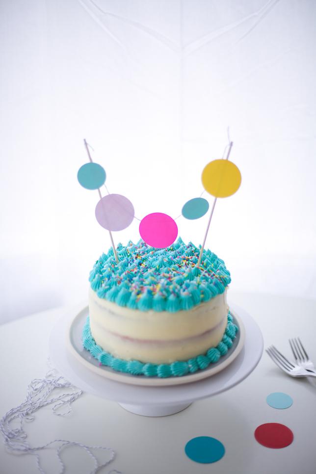 paper cake topper DIY