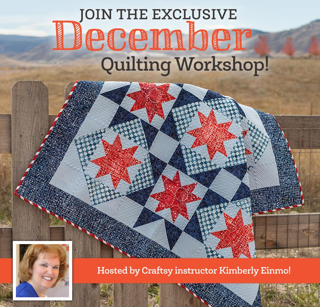 Spangled Stars Quilting Workshop by Kimberly Einmo