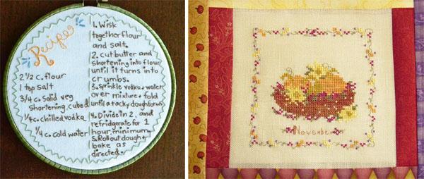 embroidered recipe