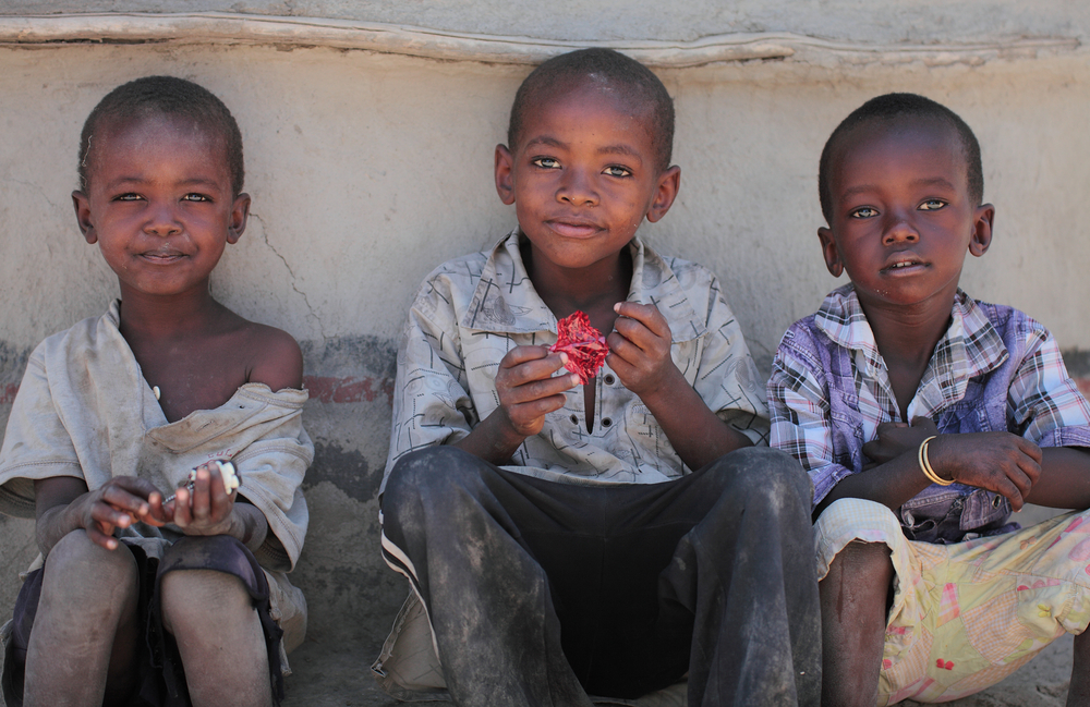 Portrait of unidentified Masai children