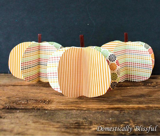 Three Cute Paper Pumpkins