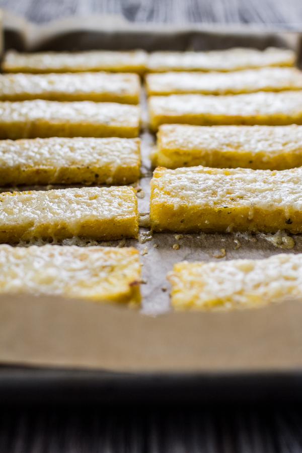 Cheesy Polenta Breadsticks