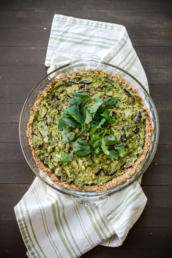 Tofu Quiche With Kale and Herbs