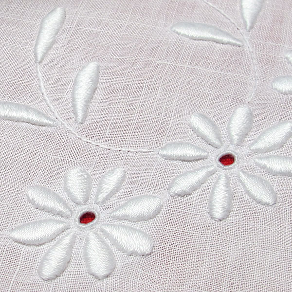 Whitework embroidery flowers