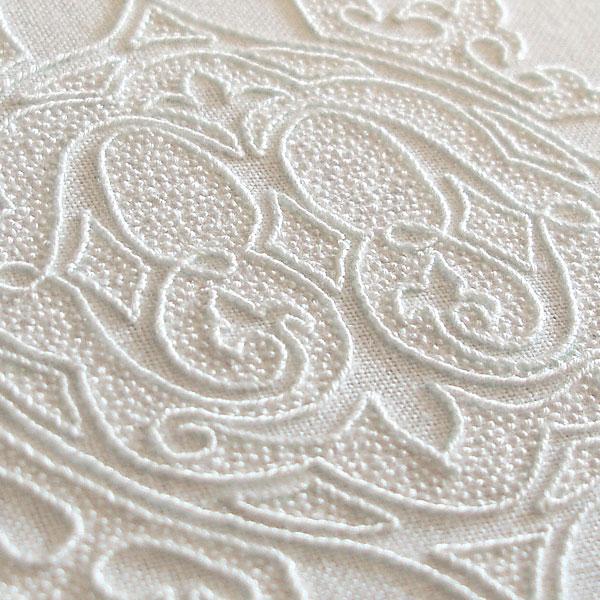 Whitework embroidery monogram