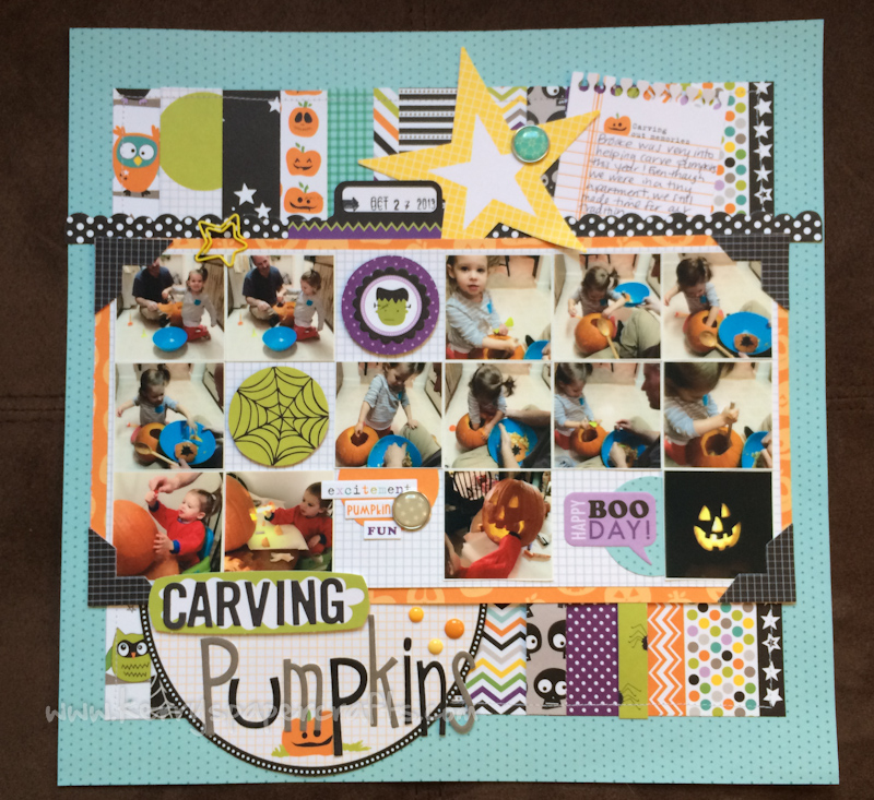 Square Collage Scrabpook Layout