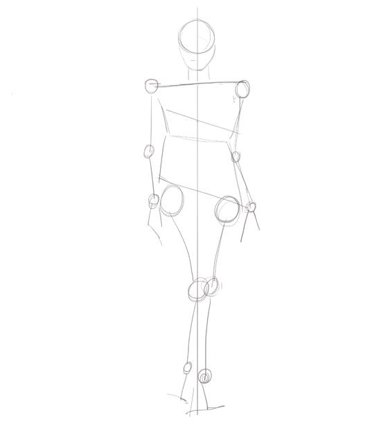 fashion illustration: real figures step 1