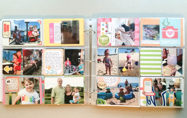 Pocket Scrapbook Layout