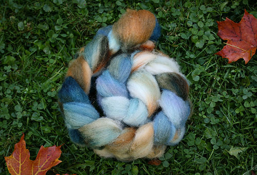 Beautiful blue fiber.