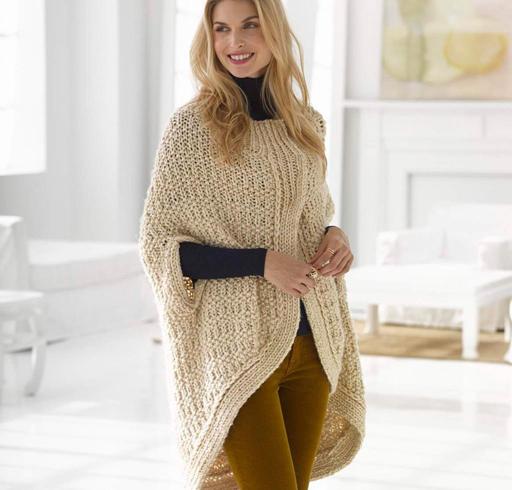 Cocoon Cape knitting kit