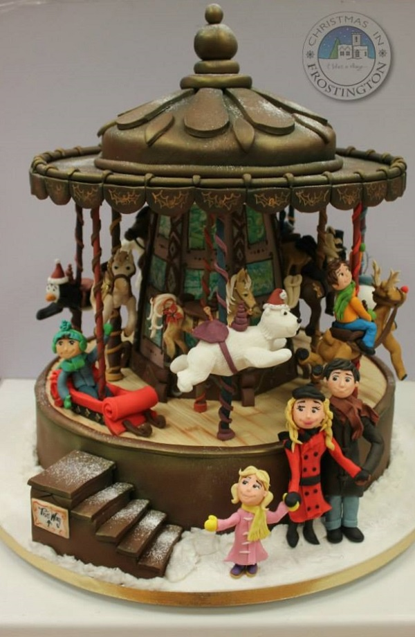 Christmas in Frostington carousel cake