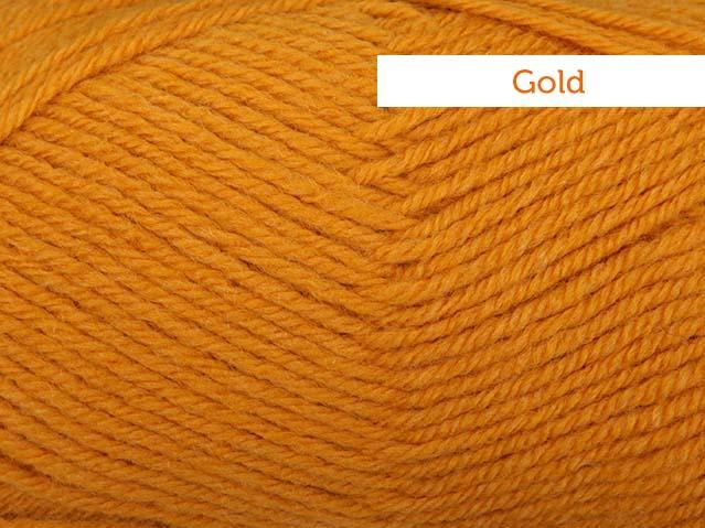 Lion Brand Wool Ease yarn in Gold