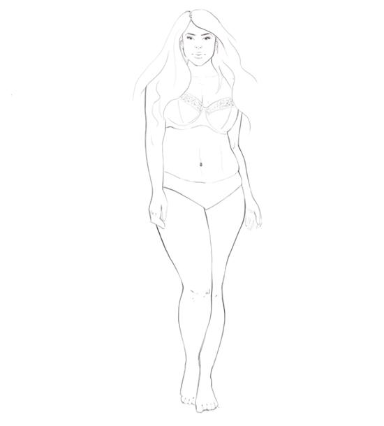 fashion illustration: real figures step 2