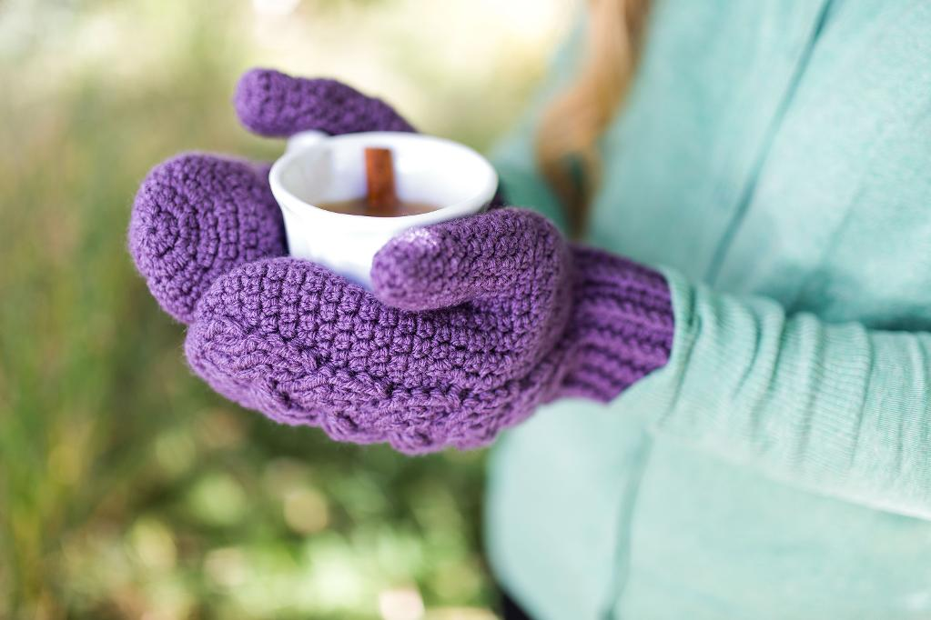 Dutch Braided Cable Mittens crochet kit