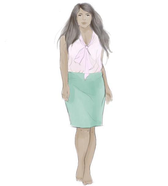 fashion illustration: real figures step 4
