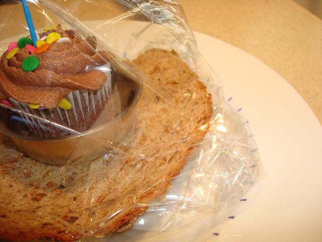 Bread to moisten cake