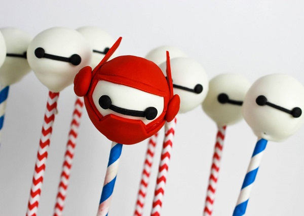 Big Hero 6 cake pops
