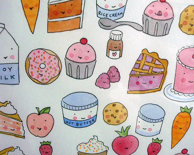 Healthy foods and sweets