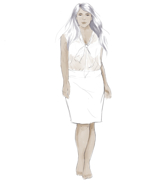 fashion illustration: real figures step 3