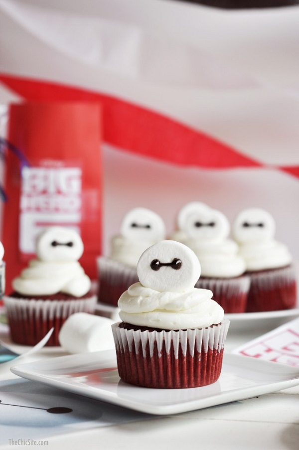 Big Hero 6 marshmallow cupcakes