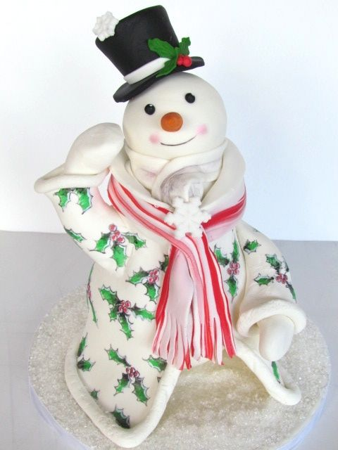 Christmas in Frostington snowman cake